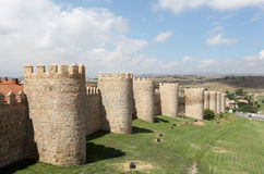 Medieval city walls of Avila, Spain Royalty Free Stock Photography
