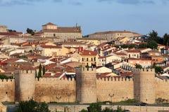 Medieval city walls of Avila, Spain Stock Image