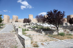 Medieval city walls of Avila, Spain Stock Images