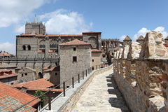 Medieval city walls of Avila, Spain Stock Photo