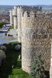 Medieval city walls in Avila Stock Photos