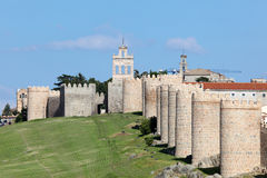 Medieval city walls of Avila, Spain Stock Image