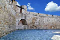 Medieval city walls Stock Images
