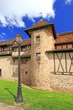 Medieval city walls of Riquewihr, Alsace, France Royalty Free Stock Image