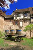 Medieval city walls of Riquewihr, France Royalty Free Stock Photos
