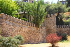 Medieval city walls of Toledo Stock Photography