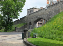 Medieval city walls of york Stock Images