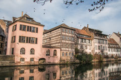 Medieval cityscape of Strasbourg in Alsace Royalty Free Stock Photos