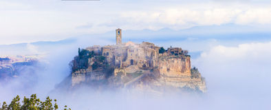 Medieval Civita di Bagnoregio, Italie Photos stock