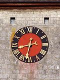Medieval clock face Royalty Free Stock Photo