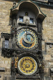 Medieval Clock in the Old Town Square, Prague. Royalty Free Stock Image