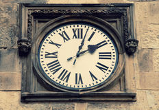 Medieval clock in Prague Royalty Free Stock Photos