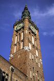Medieval clock tower. Royalty Free Stock Photos