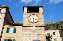 Medieval clock tower(Kotor, Montenegro) Stock Images