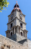 Medieval Clock Tower Rhodes Island Greece Royalty Free Stock Photo