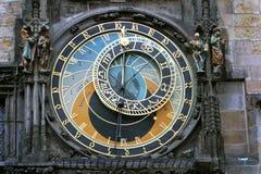 Medieval clocks. In Prague, Czech rep stock images