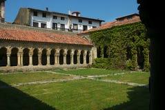 Medieval cloister. Claustro medieval en Santillana del Mar Stock Image