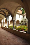 Medieval cloister, Saluzzo, Italy Royalty Free Stock Photography