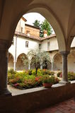 Medieval cloister, Saluzzo, Italy Royalty Free Stock Image
