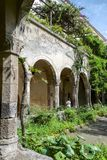Medieval cloister in Sorrento Stock Photography