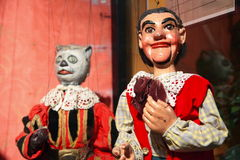 Medieval clown puppets Stock Images
