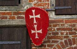 Medieval coat of arms. On the dial royalty free stock photography