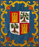Medieval Coat of Arms Embroidery Stock Image