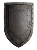Medieval coat of arms shield isolated royalty free stock image