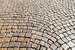 Medieval cobble stone pavement Royalty Free Stock Photo
