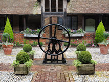 Medieval Cobbled English Courtyard Garden Royalty Free Stock Photography