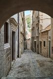 A medieval cobbled street Stock Image