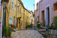 Medieval cobblestone street Royalty Free Stock Image