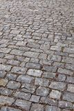Background of medieval cobblestones, Europe Stock Photography