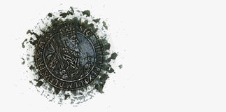 Medieval coin banner Stock Photo