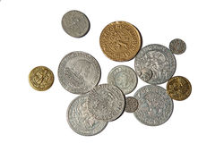 Medieval coins Stock Photography