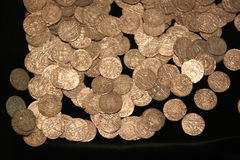 Medieval crusaders coins Stock Image