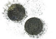 Medieval coins Royalty Free Stock Photography