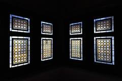Medieval Colorful Windows:Hunedoara Castle,Romania Royalty Free Stock Photos