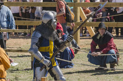 Medieval combat fighter Stock Photography