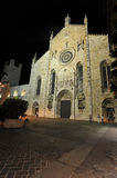 Medieval Como cathedral in night Royalty Free Stock Image