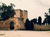 Medieval construction. Ancient fortification from medieval times Royalty Free Stock Photos