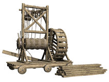 Medieval construction machine Stock Images