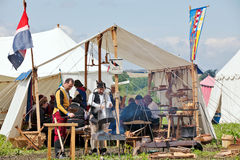 Medieval Cookhouse tent Stock Images