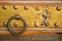 Medieval copper doorhandle Stock Images