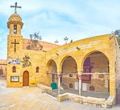 The medieval Coptic St George Church in Cairo, Egypt Stock Photography