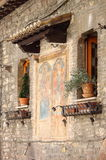 Medieval corner in Assisi Stock Photo