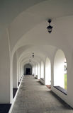 Medieval corridor in the cloister Stock Image