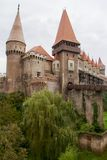 Medieval Corvin castle, Hunedoara, Romania. Hunyadi Castle or Hunedoara Castle (Romanian: Castelul Huniazilor or Castelul Corvinilor) is one of the largest Royalty Free Stock Photos
