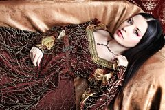 Medieval costume royalty free stock photography