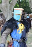 Medieval costume. A knight with a medieval costume royalty free stock image